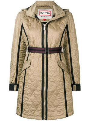 Quilted zipped coat Hunter. Цвет: нейтральные цвета