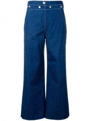 Расклешенные джинсы свободного кроя Rag & Bone. Цвет: синий