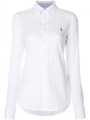 Рубашка на пуговицах Polo Ralph Lauren. Цвет: белый