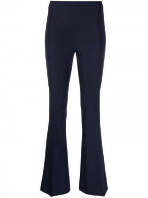Расклешенные брюки с завышенной талией Blanca Vita. Цвет: синий