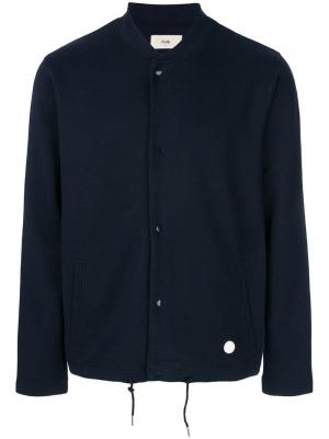 Куртка-бомбер из джерси Folk. Цвет: синий