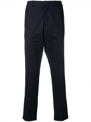 Классические брюки кроя слим Moschino. Цвет: синий