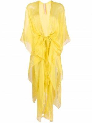 Пляжное платье Casablanca Maria Lucia Hohan. Цвет: желтый