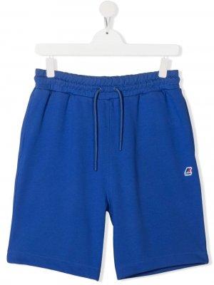 Спортивные шорты с логотипом K Way Kids. Цвет: синий