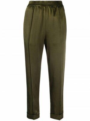 Атласные брюки прямого кроя Haider Ackermann. Цвет: зеленый