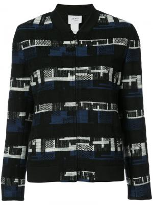 Пиджак с тканым геометрическим узором Akris Punto. Цвет: синий