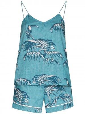 Пижама с принтом Bocas Desmond & Dempsey. Цвет: синий