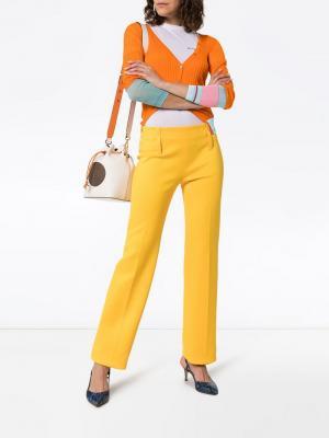 Кардиган с контрастными рукавами i-am-chen. Цвет: оранжевый