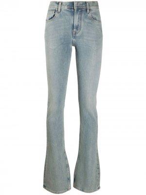 Расклешенные джинсы с завышенной талией Ssheena. Цвет: синий