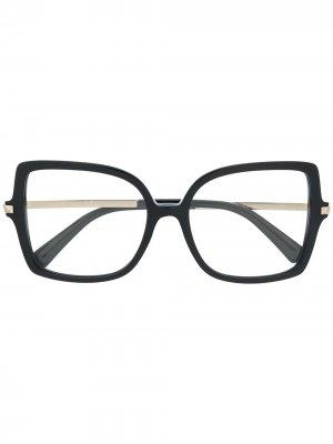 Очки с отделкой Rockstud Valentino Eyewear. Цвет: черный