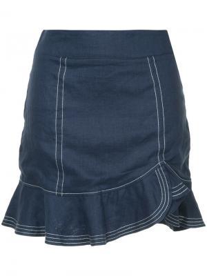 Мини-юбка Nautico Suboo. Цвет: синий