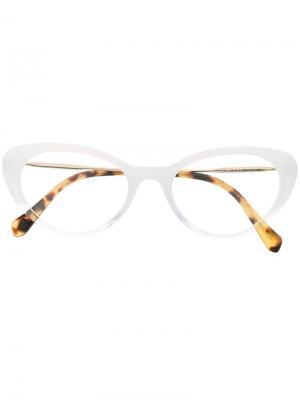 Очки в оправе кошачий глаз Miu Eyewear. Цвет: белый