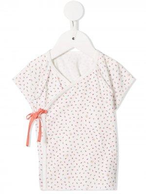 Блузка с цветочным узором Familiar. Цвет: белый