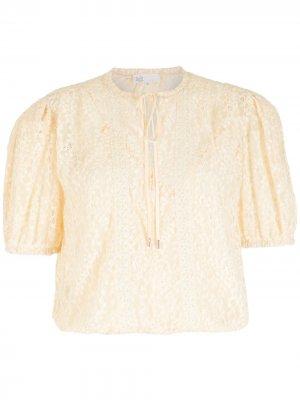 Укороченная блузка Nk. Цвет: желтый