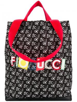 Сумка-тоут с принтом логотипа Fiorucci. Цвет: черный