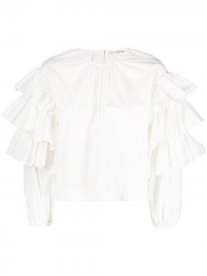 Блузка Tulia с оборками Ulla Johnson. Цвет: белый