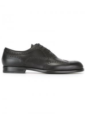 Туфли оксфорды Bottega Veneta. Цвет: черный