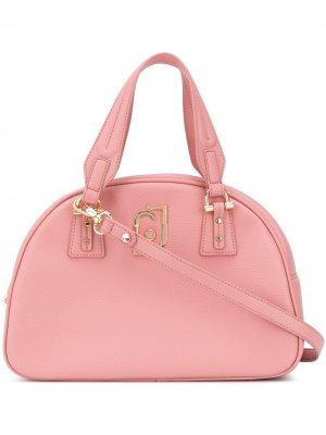 Каркасная сумка-тоут из искусственной кожи LIU JO. Цвет: розовый
