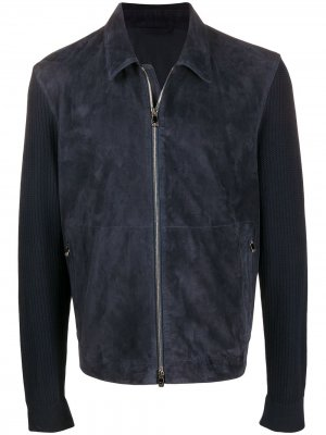 Куртка на молнии Corneliani. Цвет: синий