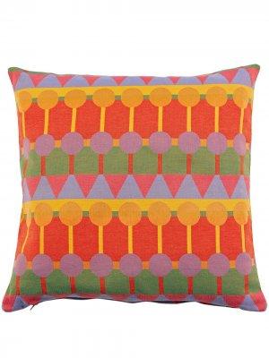 Подушка Ere с геометричным узором Yinka Ilori. Цвет: красный
