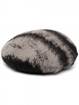 Берет с абстрактным узором Moschino. Цвет: серый