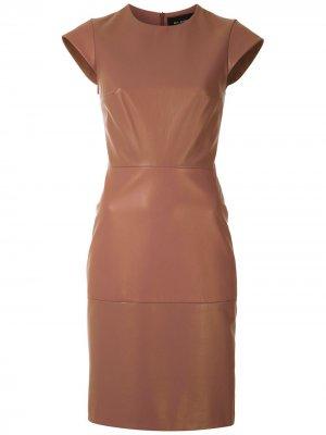 Платье короткой длины Gloria Coelho. Цвет: коричневый