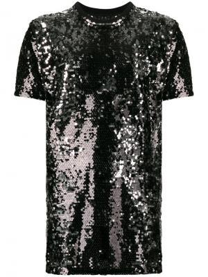 Sequin mini dress Fiorucci. Цвет: черный