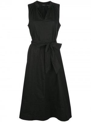 Платье А-силуэта без рукавов с завязками Natori. Цвет: черный