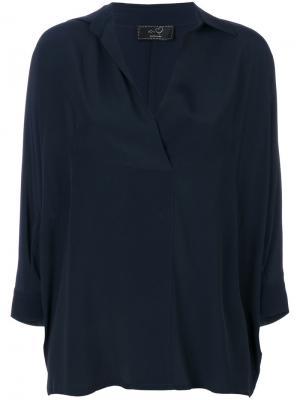Блузка с воротником Ki6. Цвет: синий