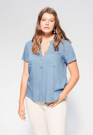 Блуза Violeta by Mango. Цвет: голубой