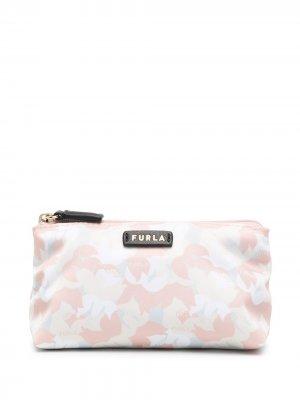 Косметичка с логотипом Furla. Цвет: розовый