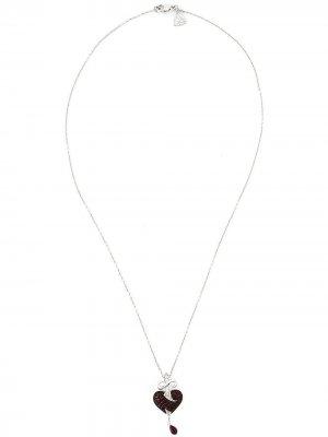 Ожерелье с подвеской рубинами Stephen Webster. Цвет: золотистый