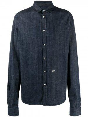 Джинсовая рубашка с логотипом Dsquared2. Цвет: синий