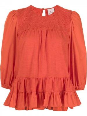 Блузка Adeline с оборками Cinq A Sept. Цвет: оранжевый