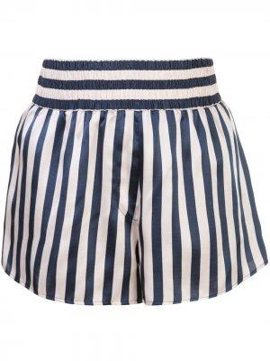 Пижамные шорты Corey в полоску Morgan Lane. Цвет: черный