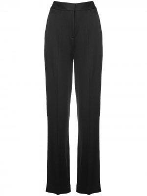 Расклешенные атласные брюки Jason Wu Collection. Цвет: черный