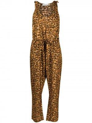 Комбинезон Amelie с леопардовым принтом Zimmermann. Цвет: коричневый