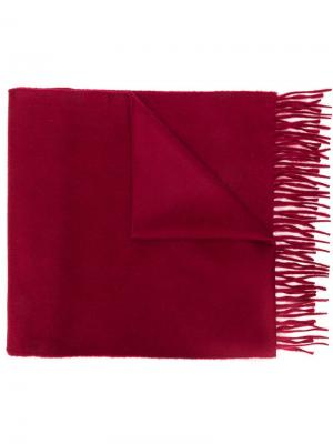 Fringed edge scarf Begg & Co. Цвет: красный