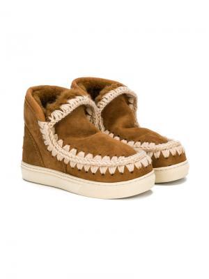 Спортивные ботинки Eskimo Mou Kids. Цвет: коричневый