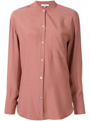 Блузка свободного кроя с воротником-стойкой Vince. Цвет: розовый