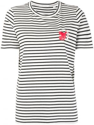 Striped bird print T-shirt Chinti & Parker. Цвет: белый