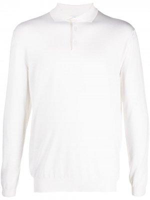 Рубашка поло в рубчик Malo. Цвет: белый