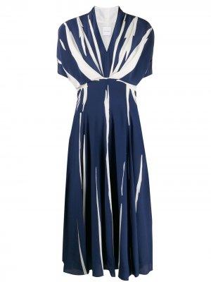 Расклешенное платье в полоску PAUL SMITH. Цвет: синий