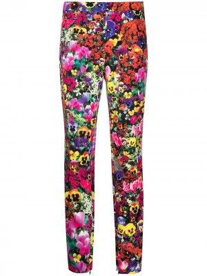 Легинсы с цветочным принтом Boutique Moschino. Цвет: розовый