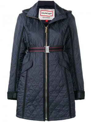 Quilted zipped coat Hunter. Цвет: синий