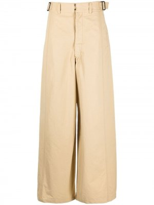 Расклешенные брюки с завышенной талией Lemaire. Цвет: нейтральные цвета