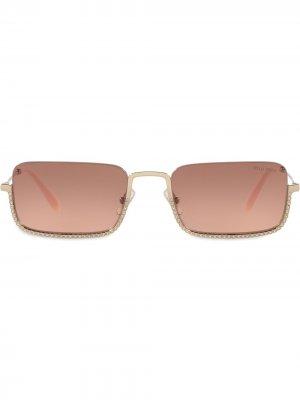 Солнцезащитные очки MU70US Miu Eyewear. Цвет: золотистый