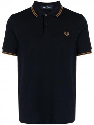 Рубашка поло с контрастной окантовкой FRED PERRY. Цвет: синий