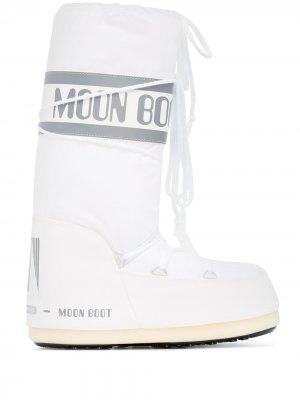 Дутые сапоги Icon Moon Boot. Цвет: белый