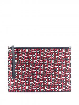 Клатч с логотипом Kenzo. Цвет: красный